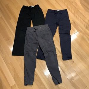 Boys 2 pairs of chino pants+1 jogger corduroy-sz8